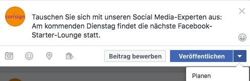 Facebook Posts planen